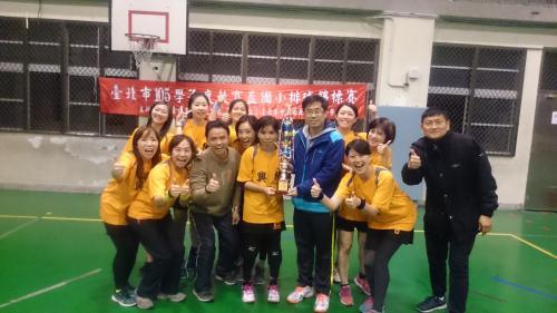 狂賀,本校參加105學年度教育盃教育盃排球賽,榮獲女教乙組冠軍
